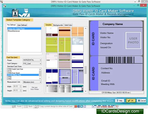 visitor card template software screenshots of visitors id cards designing software to