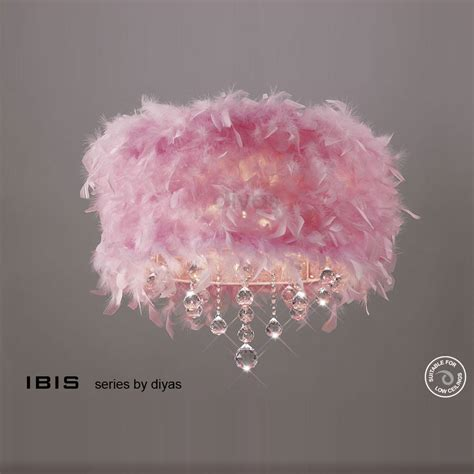Pink Ceiling Lights Diyas Il30741 Pi Ibis Three Light Pink Ceiling Fitting