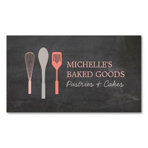 rolling pin and whisk business card template whisk spoon spatula logo bakery business card 마카롱 명함 및 로고