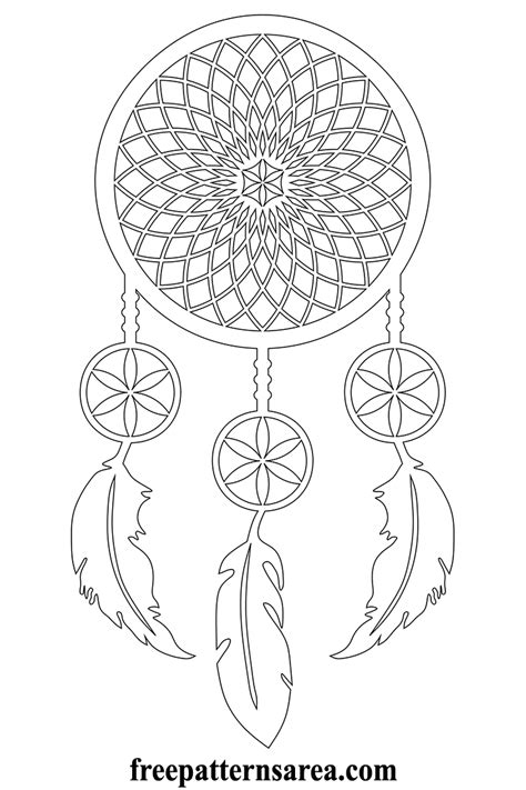 dreamcatcher template meaning of catcher and printable vector pattern