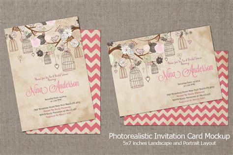 Wedding Invitation Card Mockup by 16 Invitation Mockups Psd Images Wedding Invitation Psd