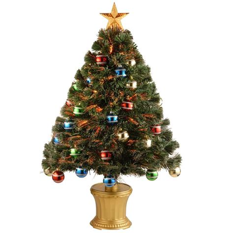 3 ft fiber optic xmas tree national tree company 3 ft fiber optic fireworks artificial tree with ornaments