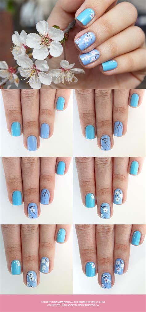 nail art cherry blossom tutorial cherry blossom nail art tutorial wonder forest