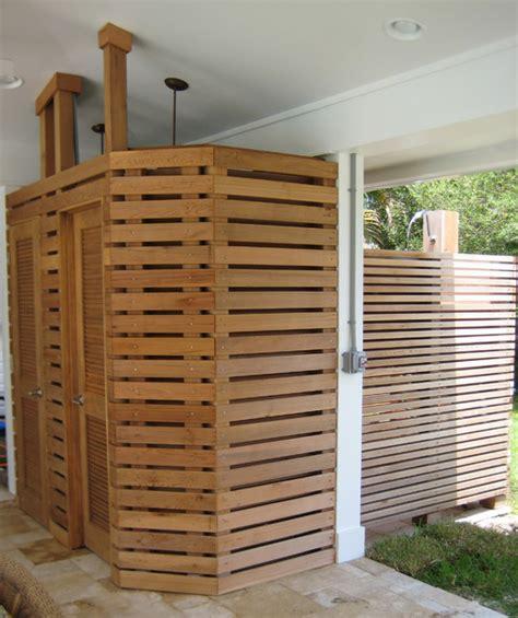 outdoor teak shower cedar teak outdoor shower style other by
