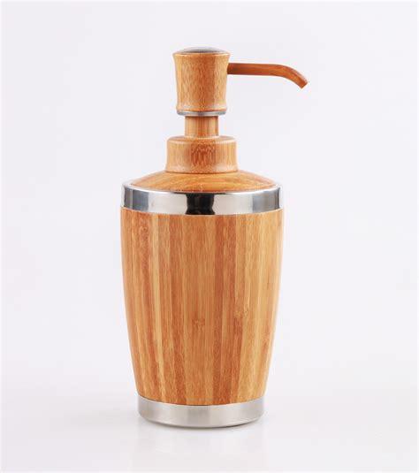 Bamboo Bathroom Lotion Dispenser Bamboo Soap Dispensor