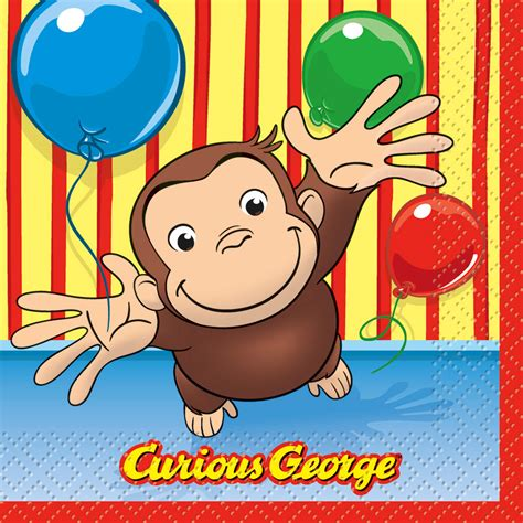 curious george the official pbs shop curious george lunch napkins