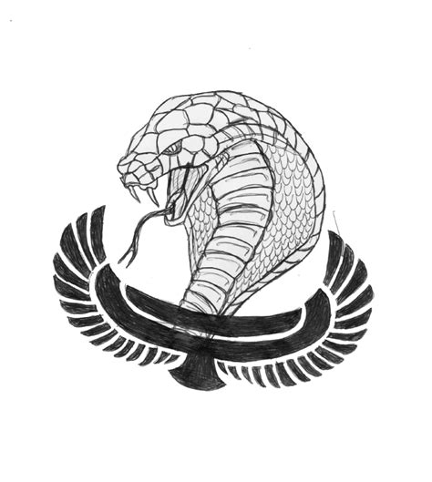 egyptian cobra drawing