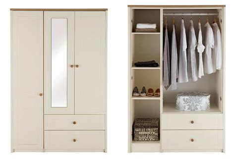 2018 3 door wardrobe with drawers and shelves