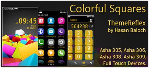 nokia c2 colorful themes colorful squares theme for nokia x2 c2 01 2700 240 215 320