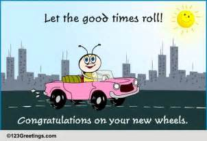 new car message congratulations new car license cards free