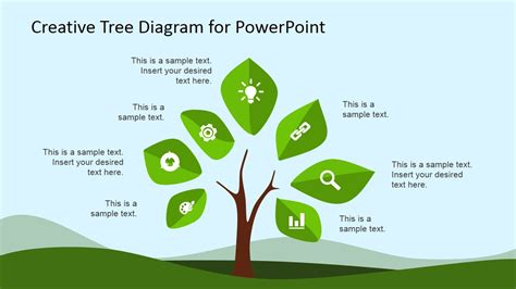 tree template for powerpoint creative tree diagram powerpoint template slidemodel
