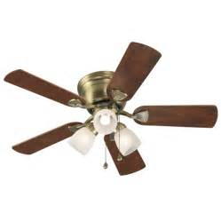 Vintage Ceiling Fan With Light Shop Harbor Centreville 42 In Antique Brass Flush