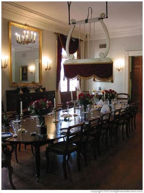 Oak Dining Room Oak Alley Plantation The Structure Over The Dining Table