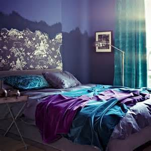 turquoise and purple bedroom decorating with turquoise teal and purple style estate