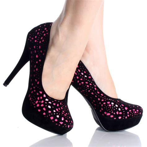pink and black high heels black and pink high heels is heel