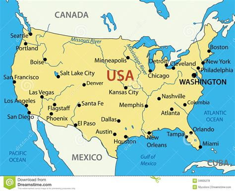 america vector map with states the united states of america vector map royalty free