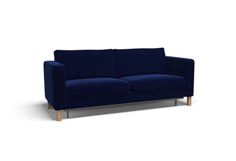 Karlstad Sofa Bed For Sale Karlstad Three Seat Sofa Bed Cover Palermo Indigo By Covercouch