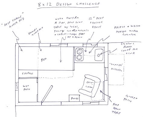 8x12 bathroom floor plans dennis s 8x12 tiny house design