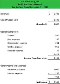 Profit And Loss Statement Template by Profit And Loss Statement Template Form Sle