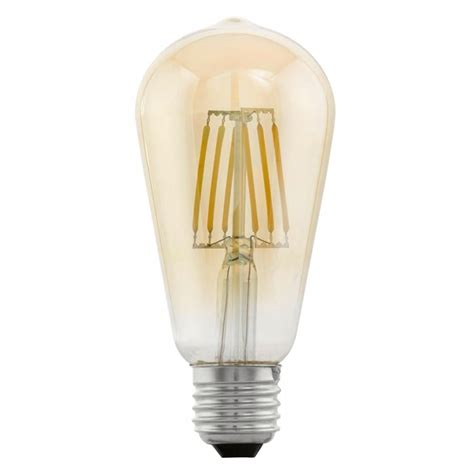amber led light bulbs vidaxl co uk eglo vintage style led light e27 st64