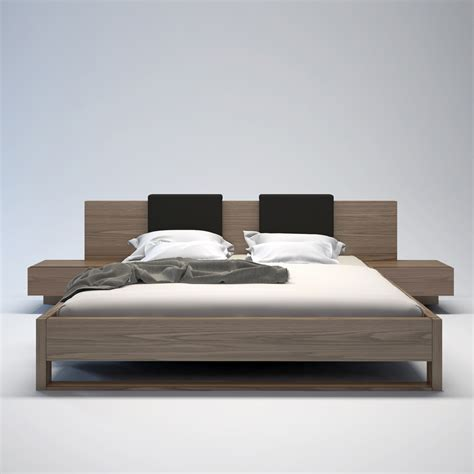 modloft 7 platform bedroom set in walnut