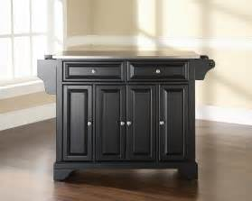 Stainless Top Kitchen Island Furniture Stainless Steel Top Kitchen Island Black