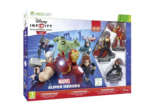 disney infinity xbox 360 disney infinity 2 0 marvel heroes starter pack
