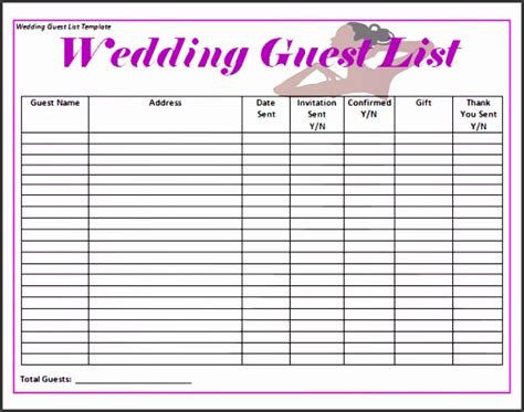 graduation checklist template 5 graduation guest list template sletemplatess