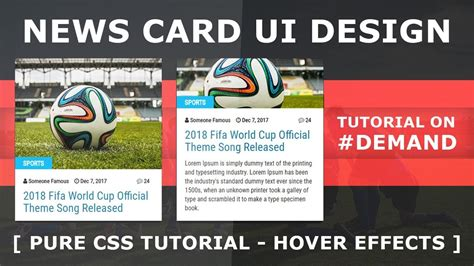 bootstrap hover card tutorial news card ui design with cool hover effects card user