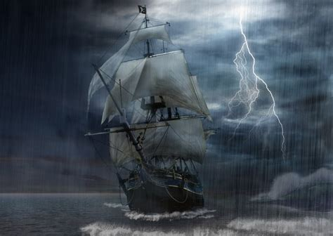 schip in storm sailing on deep water storm audio atmosphere