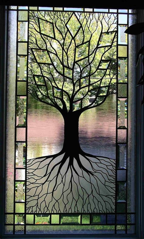 Tree Of Life Stained Glass Window I Think I Can Do This Stained Glass Door Panels Patterns