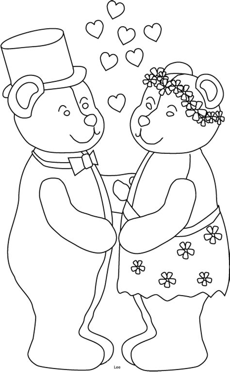 free wedding for kids coloring pages