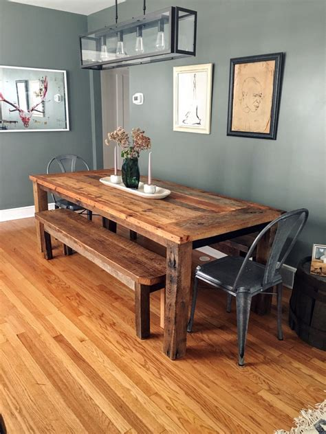 Farmhouse Wood Dining Table Reclaimed Wood Farmhouse Dining Table Textured Finish