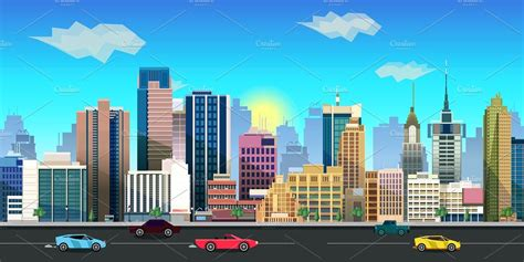 city background 2d city background illustrations creative market