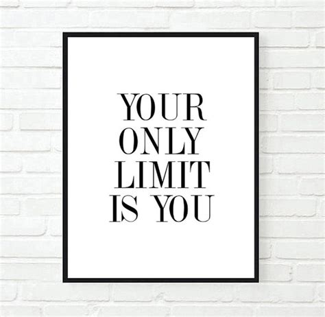 Frame Quotes Motivational Poster Work Big 4r items similar to you only limit is you inspirational