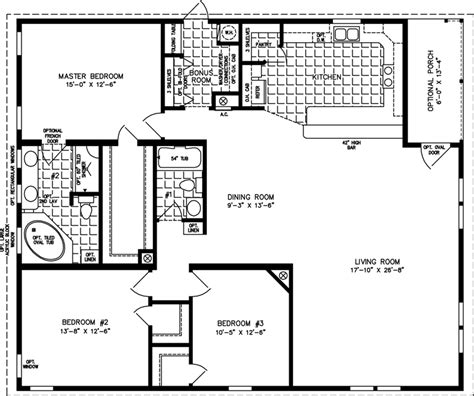1800 square foot floor plans 1800 to 1999 sq ft manufactured home floor plans