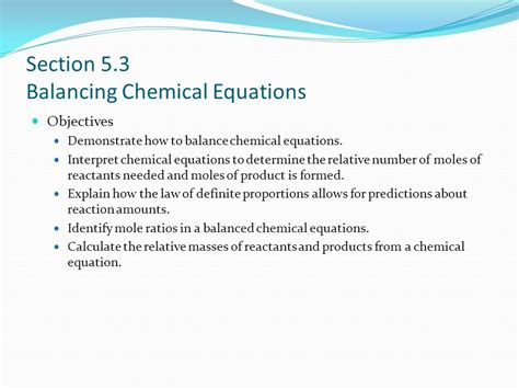 section 3 predicting the products of chemical reactions answers predict and balance chemical equations calculator