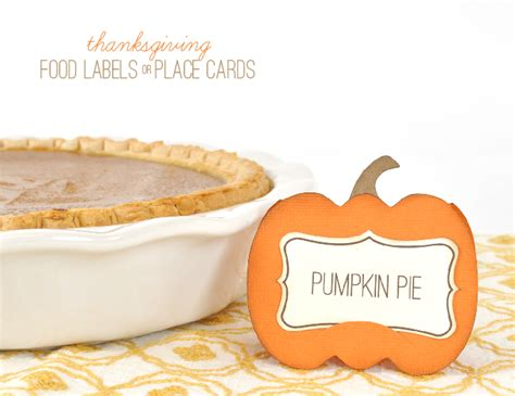 printable thanksgiving food cards 6 best images of fall food labels printable thanksgiving