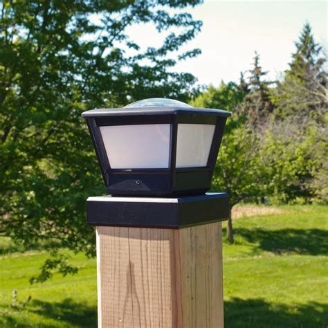 solar post cap light fence post solar light by free light 5x5 and 6x6 post cap
