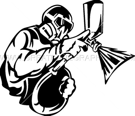 spray painter clipart spray painter production ready artwork for t shirt printing