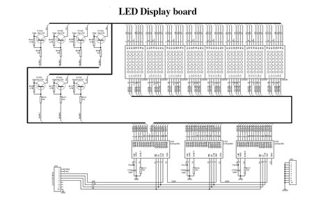 led running display circuit diagram dot matrix led running display v2 0 electronics lab
