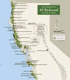 state parks california map 49 california redwood parks free on black friday sea