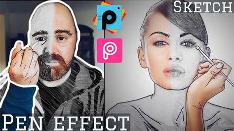 tutorial de picsart 191 como dibujarme efecto de lapiz picsart tutorial edit