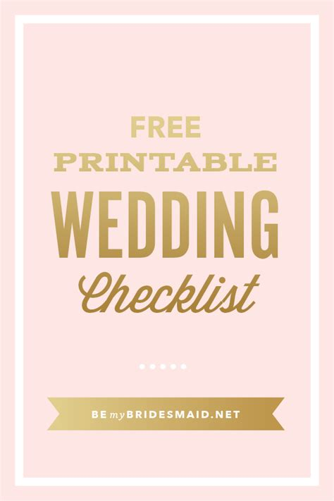 Wedding Guide Checklist Free by Free Wedding Planning Printables Checklists