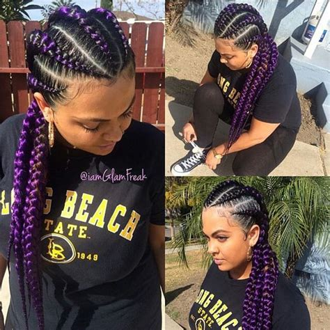 styles of ghana braids using different colours of attachment summer hair colors for african american women hergivenhair