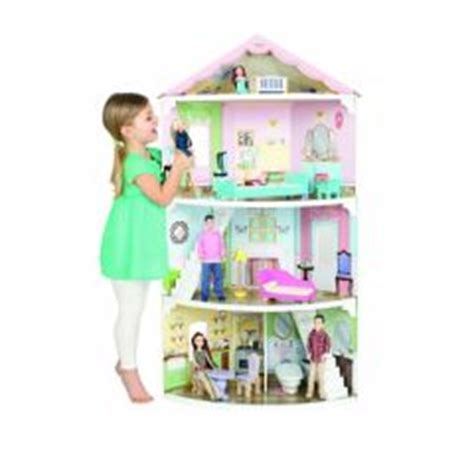 Beau Chambre De Fille De 10 Ans #5: .maison_pour_poupee_3_etages_convient_enfant_3_ans__4_ans__5_ans__6_ans__et_plus_cadeau_fille_noel_anniveraire_original_grande_maison_de_poupee_a_etage_avec_meubles_s.jpg