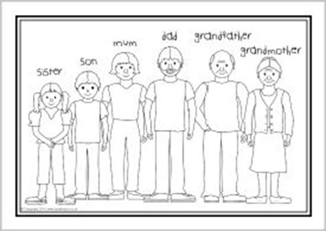 spanish family coloring page 20 best images about english family on pinterest