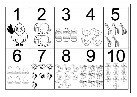 Numbers Worksheet by Number 1 10 Worksheets Free Activity Shelter