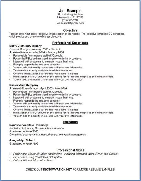 210 best images about sle resumes on entry