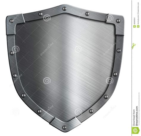 simple coat of arms metal shield isolated stock photo